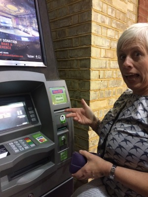 Run out of money - time for a cash point pit stop